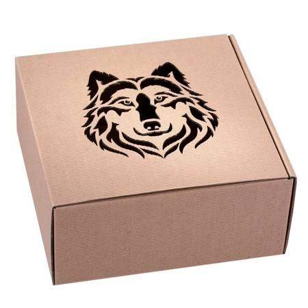 Pudełko prezentowe EKO Kraft 1 22x22x10 cm - WILK