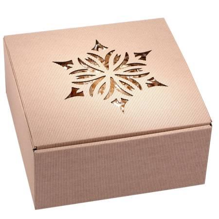 Pudełko prezentowe EKO Kraft 5 22x22x10 cm - ROZETA 2